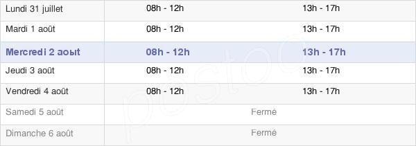 horaires d'ouverture de la Mairie De Burie