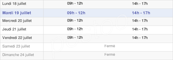 horaires d'ouverture de la Mairie De Saint-Cernin