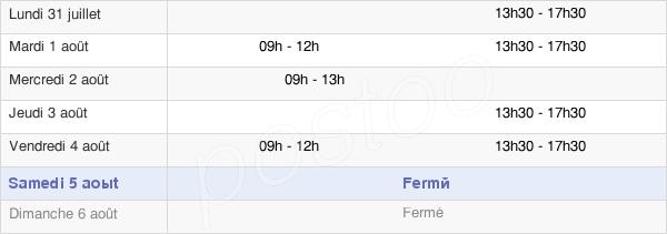 horaires d'ouverture de la Mairie De Saint-Césaire