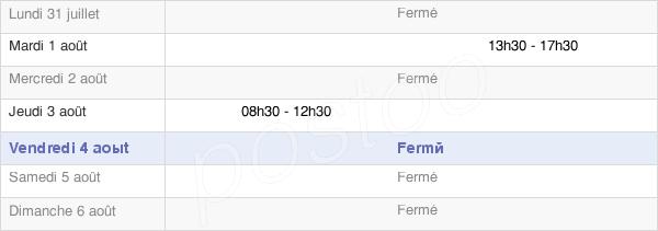 horaires d'ouverture de la Mairie De Migron
