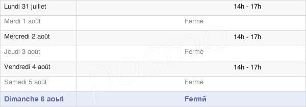 horaires d'ouverture de la Mairie De Villeneuve-La-Comtesse