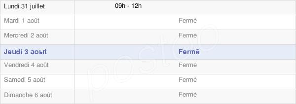 horaires d'ouverture de la Mairie De Vervant