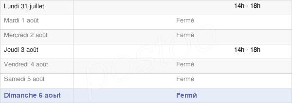 horaires d'ouverture de la Mairie De La Croix-Comtesse