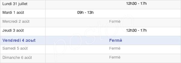horaires d'ouverture de la Mairie De Sainte Meme