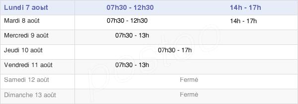 horaires d'ouverture de la Mairie De Capesterre-Belle-Eau