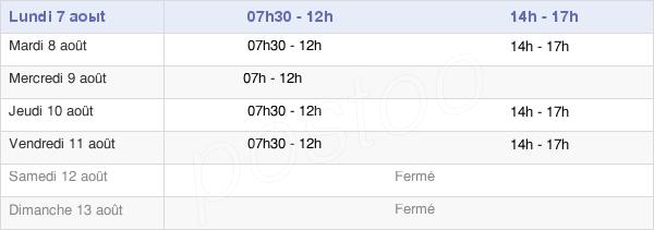horaires d'ouverture de la Mairie De La Désirade