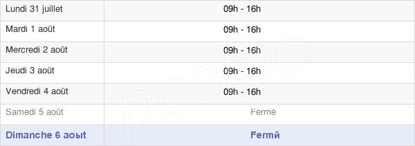 horaires d'ouverture de la Mairie De Port-Louis