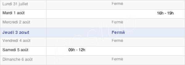 horaires d'ouverture de la Mairie De Le Landin