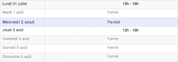 horaires d'ouverture de la Mairie De Saint Clément