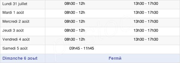 horaires d'ouverture de la Mairie De Gisors