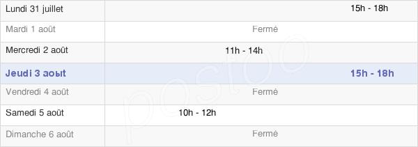 horaires d'ouverture de la Mairie De Saint Mards De Blacarville