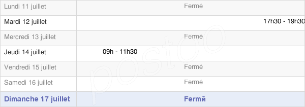 horaires d'ouverture de la Mairie De Fourmetot