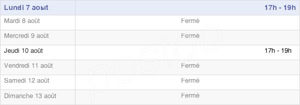 horaires d'ouverture de la Mairie De Bus-Saint-Rémy