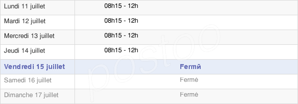 horaires d'ouverture de la Mairie D'Aubevoye