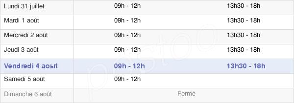 horaires d'ouverture de la Mairie De Gasny