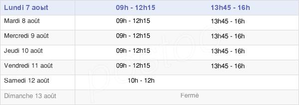 horaires d'ouverture de la Mairie De Conches En Ouche