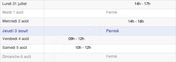 horaires d'ouverture de la Mairie De Fleury-La-Forêt