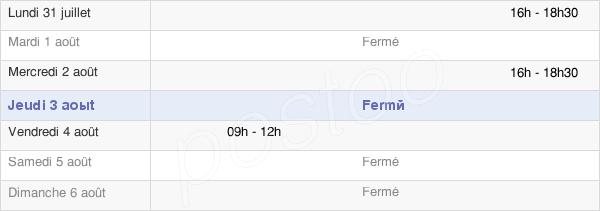 horaires d'ouverture de la Mairie De Caumont