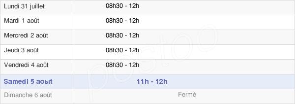horaires d'ouverture de la Mairie De Velzic