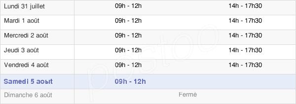 horaires d'ouverture de la Mairie De Etrépagny