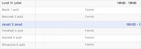 horaires d'ouverture de la Mairie De Flipou