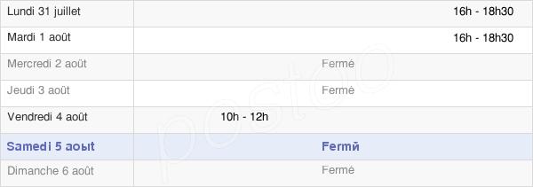 horaires d'ouverture de la Mairie De Boisset-Les-Prévanches