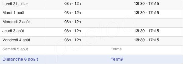 horaires d'ouverture de la Mairie De Ferrières-Saint-Mary