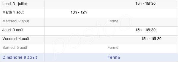 horaires d'ouverture de la Mairie De Garennes-Sur-Eure