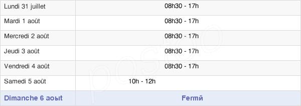 horaires d'ouverture de la Mairie De Bernay