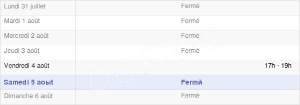 horaires d'ouverture de la Mairie De Fontaine La Soret