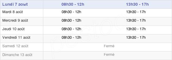 horaires d'ouverture de la Mairie De Neuvéglise