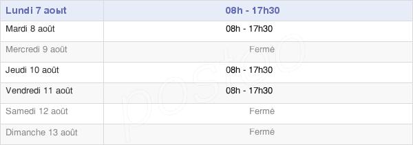 horaires d'ouverture de la Mairie De Boisset