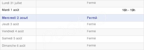 horaires d'ouverture de la Mairie De Le Mesnil Fuguet