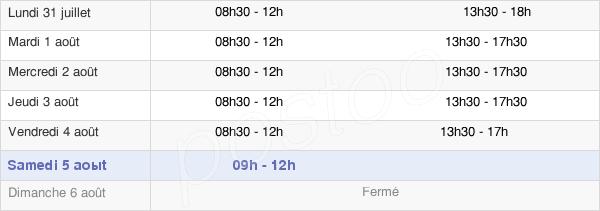 horaires d'ouverture de la Mairie De Brionne
