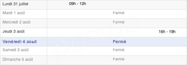 horaires d'ouverture de la Mairie De Saint Germain De Pasquier