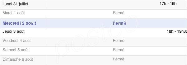 horaires d'ouverture de la Mairie De Tourneville