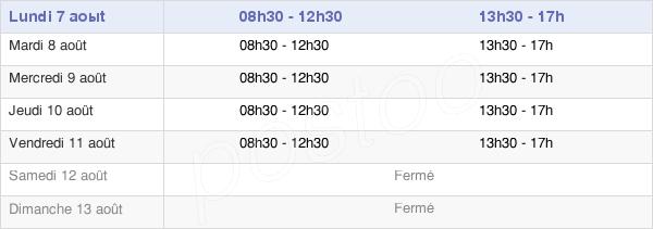 horaires d'ouverture de la Mairie De Laroquebrou