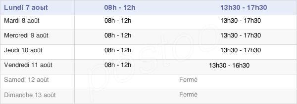 horaires d'ouverture de la Mairie De Saint-Flour