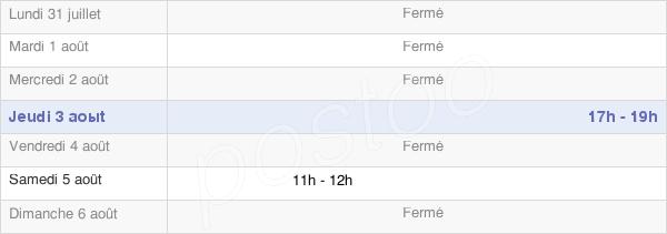 horaires d'ouverture de la Mairie De Farceaux