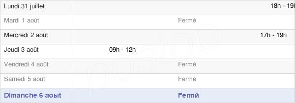 horaires d'ouverture de la Mairie De Reuilly