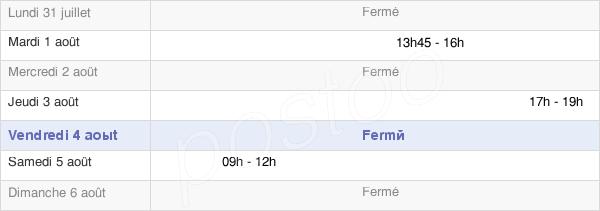 horaires d'ouverture de la Mairie De Juvigny