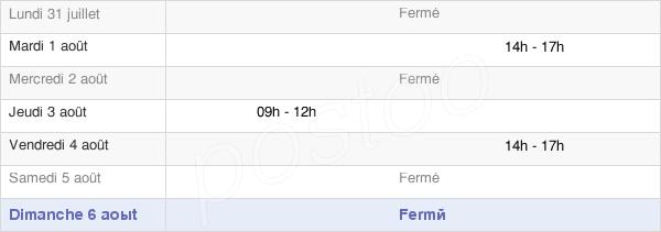 horaires d'ouverture de la Mairie De Leucamp