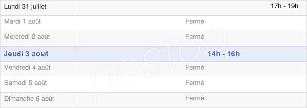 horaires d'ouverture de la Mairie De Saint-Hilaire-Le-Grand
