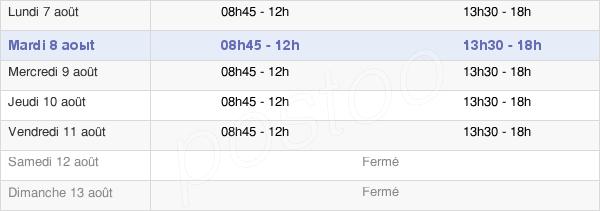 horaires d'ouverture de la Mairie De Sézanne