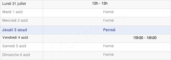 horaires d'ouverture de la Mairie De Saint-Martin-Aux-Champs