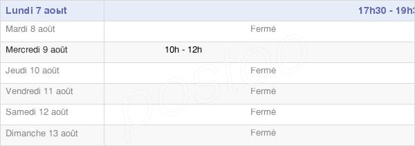 horaires d'ouverture de la Mairie D'Arcis-Le-Ponsart