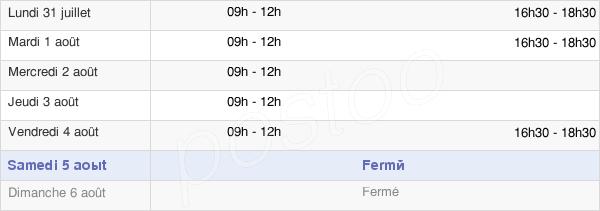 horaires d'ouverture de la Mairie De Taissy