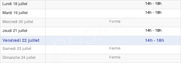 horaires d'ouverture de la Mairie De Faverolles-Et-Coëmy