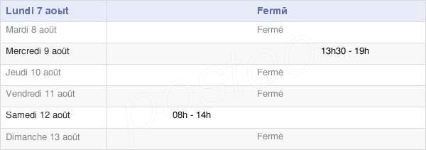 horaires d'ouverture de la Mairie De Villers-Aux-Bois