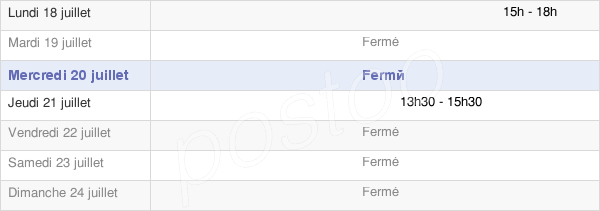 horaires d'ouverture de la Mairie De Saint-Jean-Sur-Moivre